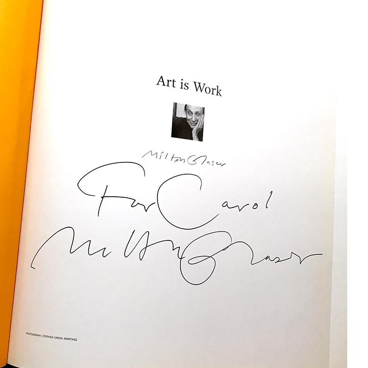 Milton Glaser signature